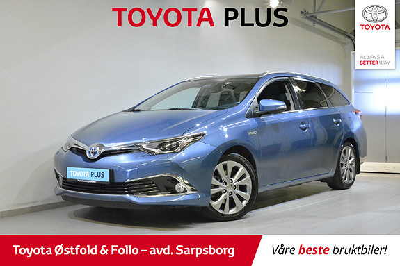 Toyota Auris Touring Sports 1,8 Hybrid Executive ,SKINN/JBL/PANORAMA  2016, 32 000 km, kr 232 000,-