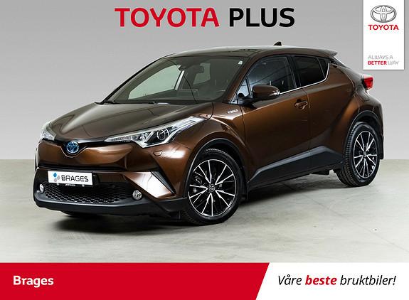 Toyota C-HR 1,8i Hybrid Supreme Delskinn, R.kam, P.Sens, Rattvarme  2018, 34200 km, kr 289000,-
