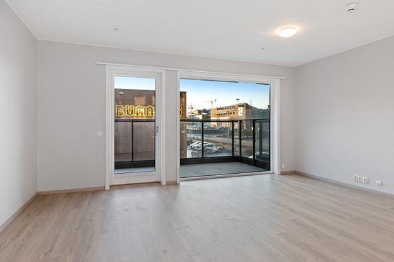 Skigata 6-104 markterrasse og balkong (86 m2)