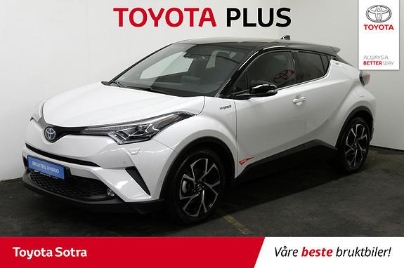 Toyota C-HR 1,8i Hybrid Lounge Tech Bi-tone  2019, 16957 km, kr 339000,-