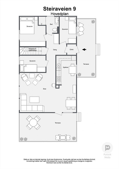 Steiraveien 9 - Hovedplan - 2D