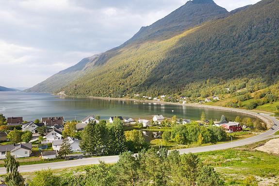 Nydelig utsikt utover fjorden
