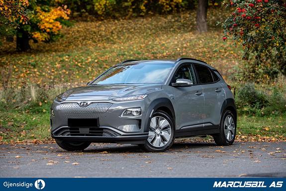 """Hyundai Kona Premium, Skinn, App, 10"""" skjerm, HUD, Norsk  2020, 50 km, kr 409900,-"""