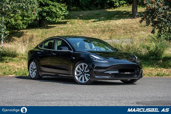 "Tesla Model 3 LR AWD FSD/HIFI/VINTER/19""+18""  2019, 33500 km, kr 469999,-"
