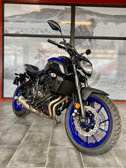 Bilbilde: Yamaha Kampanje blå MT-07!