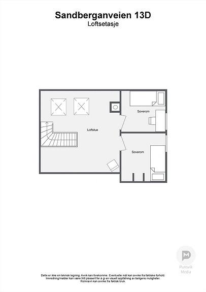 Sandberganveien 13D - Loftsetasje - 2D