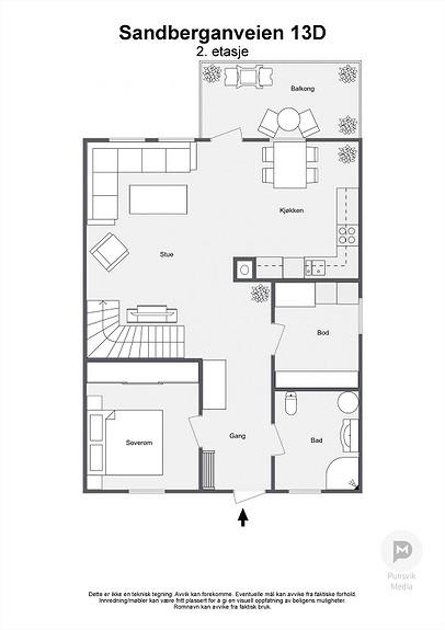 Sandberganveien 13D - 2. etasje - 2D