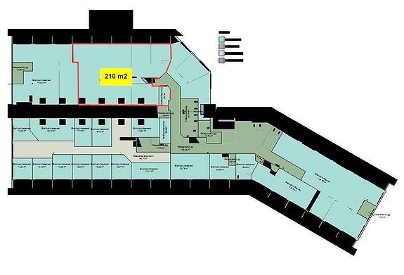Romslig kontorareal med 5 store cellekontorer med utsikt mot Askøy, 3 cellekontorer i bakkant med takvindu, minikjøkken og stort møterom.