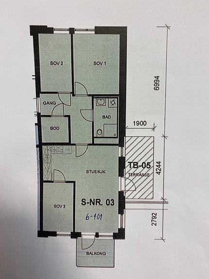 4-roms, leil. 6-101   69 m2