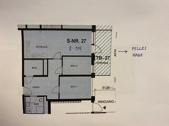 3-roms, leil. 8-104   70 m2