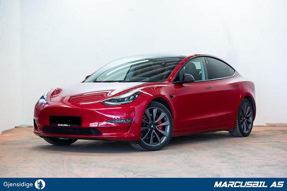 Tesla Model 3 PERFORMANCE AP/VINTER/HIFI  2019, 22210 km, kr 489999,- image