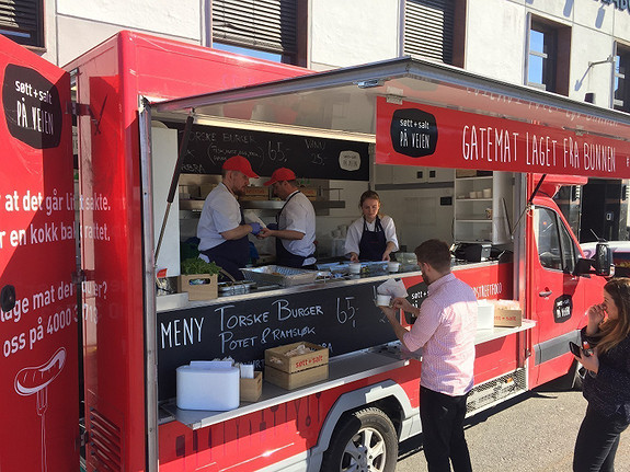 Aktiviteter på området. Her representert ved Søtt & Salt sin food-truck.