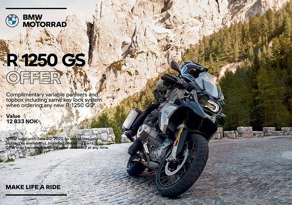 Bilbilde: BMW R1250GS  veskekampanje