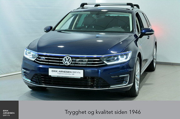 Volkswagen Passat GTE PLUG-IN HYBRID Webasto, Active info, Krok, Skinn +  2017, 46300 km, kr 299900,-