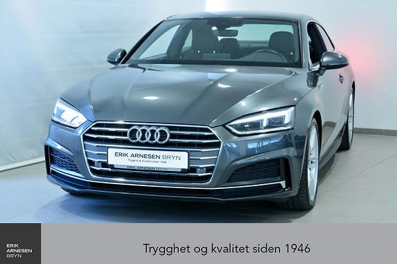 Audi A5 Coupé Sport 2,0 TDI 190hk S tronic 2 x S Line  + + +  2017, 44500 km, kr 399900,-