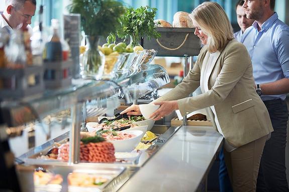 Vi har flere kantiner og kafeer i Solheimsviken