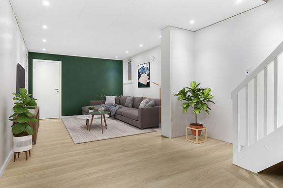 Underetasje - Kjellerstue - digitalt møblert