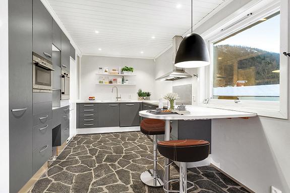 Hovedplan - Kjøkken - digitalt møblert