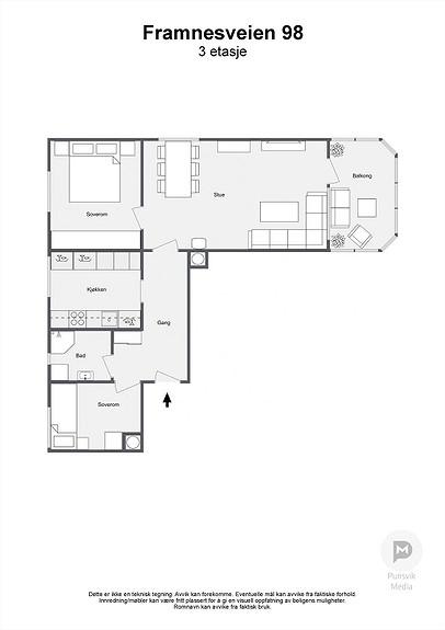 Framnesveien 98 - 3. etasje - 2D