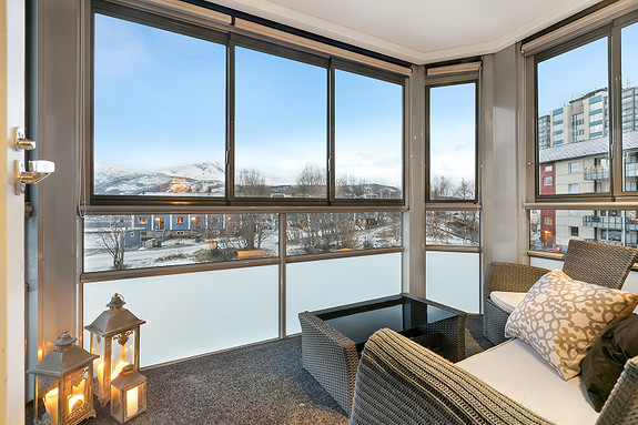 Innglasset balkong