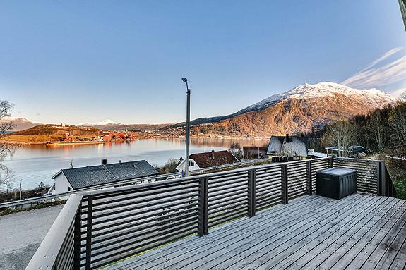 Utsikt mot Narvik og Linken