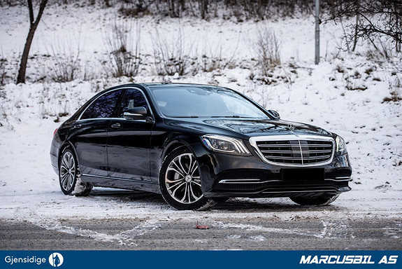 Mercedes-Benz S-Klasse 560e Lang utgave, utstyrsbombe, Se km! S/V-hjul, takstat  2019, 14566 km, kr 1099000,-