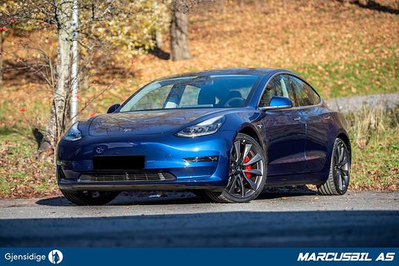 "Tesla Model 3 PERFORMANCE FSD/HIFI/VINTER/20""  2020, 50 km, kr 514900,-"