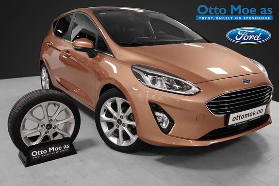 Ford Fiesta 1,0 EcoBoost 100hk Titanium BRUKTBILKAMPANJE  2017, 23763 km, kr 174900,-