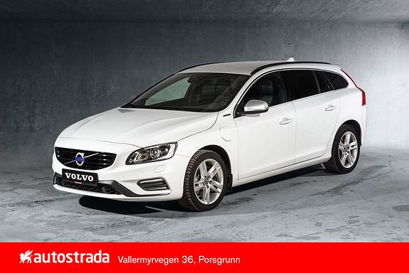 Volvo V60 D6 R-Design Twin Engine , Flott bil, Navi. Kamera, DAB+  2018, 43091 km, kr 379000,-