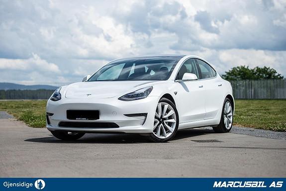 """Tesla Model 3 LR AWD AP/HIFI/VINTER/19""""+18""""  2019, 27000 km, kr 429900,-"""