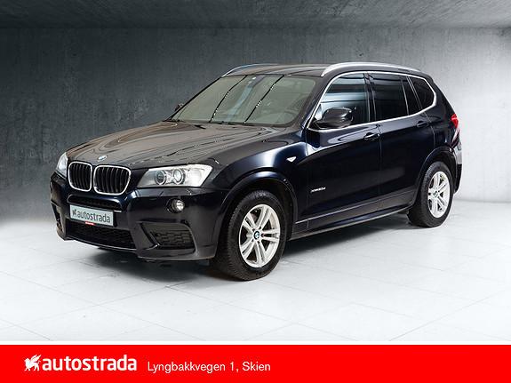 BMW X3 xDrive20d 163hk Automat M-Sport, Sort Skinn, DAB  2013, 113101 km, kr 269000,-