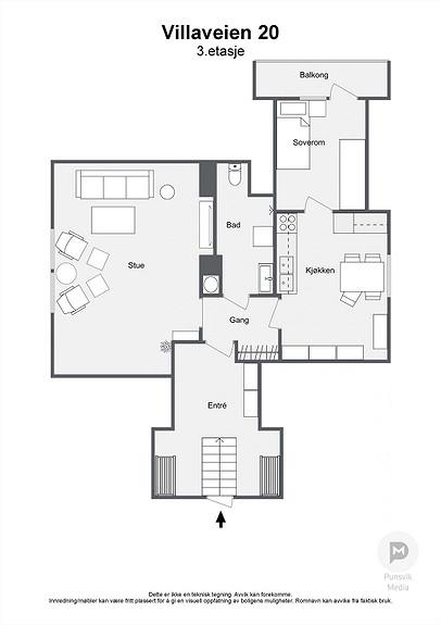 Villaveien 20 - 3. etasje - 2D