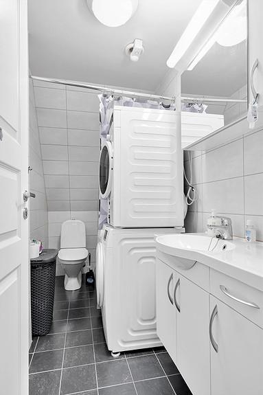 Bad med plass til vaskemaskin