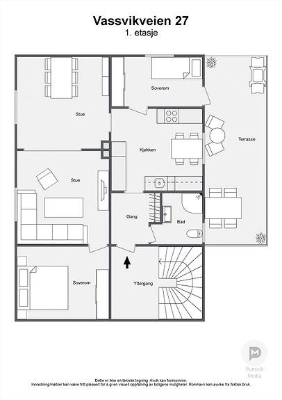 Vassvikveien 27 - 1. etasje - 2D