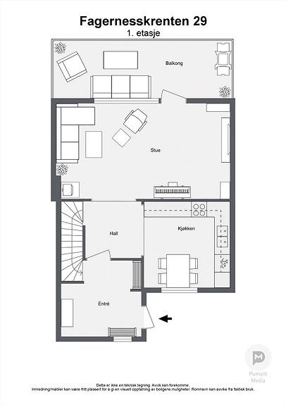 Fagernesskrenten 29 - 1. etasje - 2D