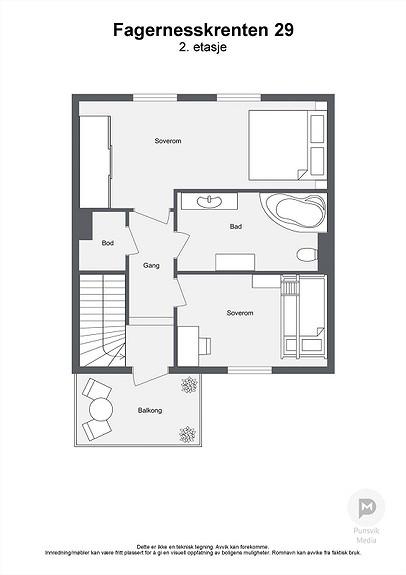 Fagernesskrenten 29 - 2. etasje - 2D