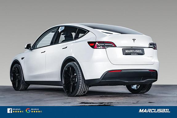"Tesla Model Y LONG RANGE AP/HIFI/VINTER/22""  2021, 1129 km, kr 599000,-"