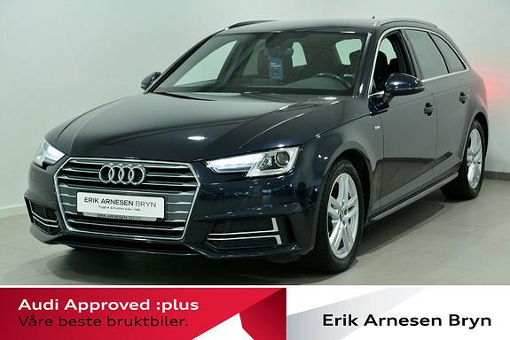 Audi A4 Avant 1,4 TFSI 150hk S tronic 2xS line, Kupevarmer + +  2018, 47500 km, kr 309900,-