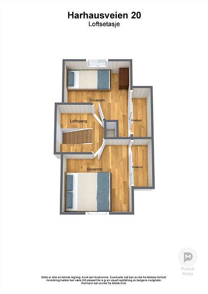 Harhausveien 20 - Loftsetasje - 3D