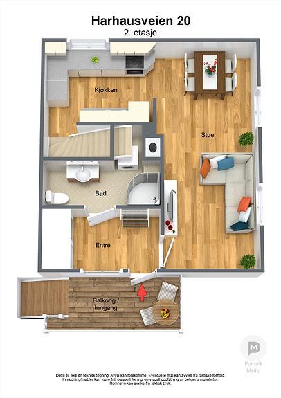 Harhausveien 20 - 2. etasje - 3D