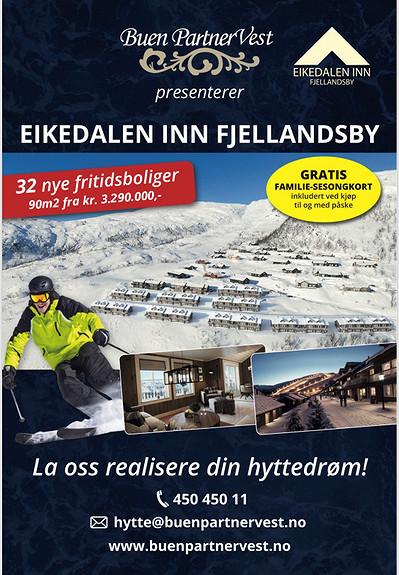 Ski in, ski out, Fritidsbolig , Eikedalen INN Fjellandsby 4 stk solgt