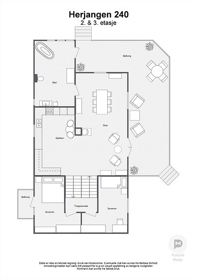 Herjangen 240 - 2. & 3. etasje - 2D