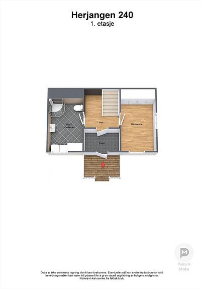 Herjangen 240 - 1. etasje - 3D