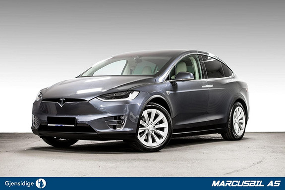 Tesla Model X 75D AP/6S/HIFI/VINTER/SKINN/MCU2  2018, 58750 km, kr 619900,-