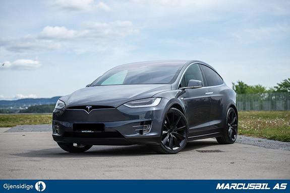 """Tesla Model X 100D AP/5S/LUFT/22"""" ONYX  2017, 81300 km, kr 579900,-"""