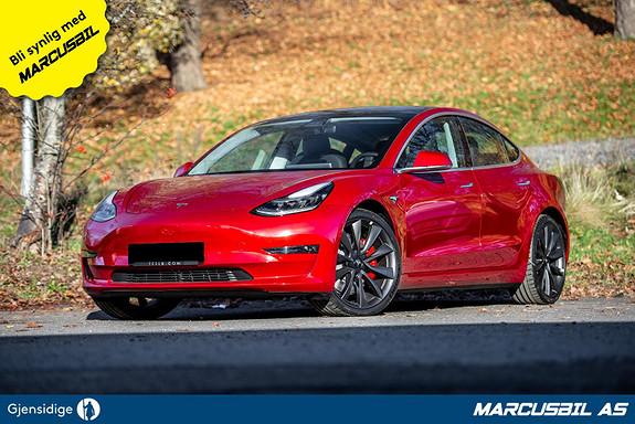 "Tesla Model 3 PERFORMANCE FSD/HIFI/VINTER/20""  2020, 50 km, kr 515000,-"