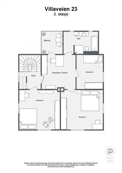 Villaveien 23 - 2. etasje - 2D