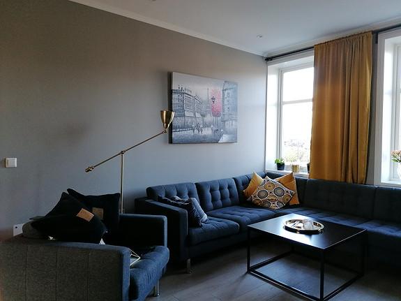Fin 3-roms leilighet midt i Horten sentrum, med stor balkong.
