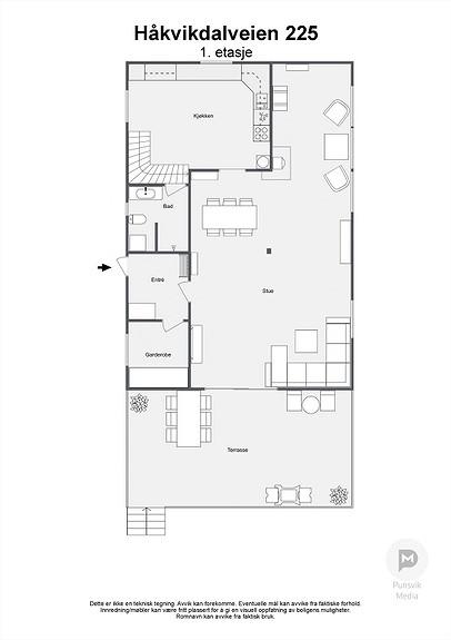 Håkvikdalveien 225 - 1. etasje - 2D