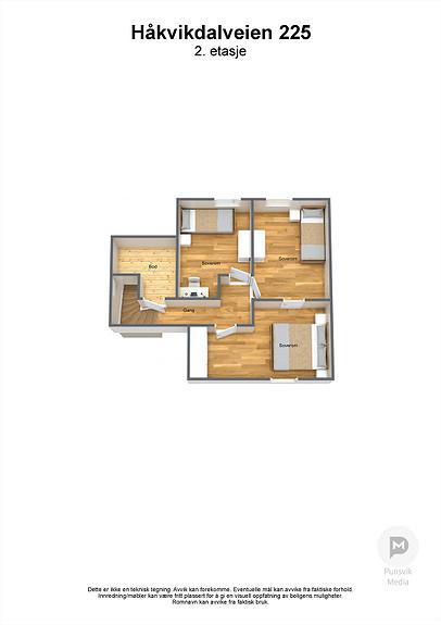 Håkvikdalveien 225 - 2. etasje - 3D
